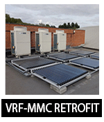 retrofit Mitsubish VRF at Greenwich leisure Center Oxford