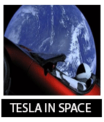 Tesla send a Roadster into the space